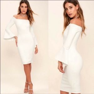 Lulu's 'All She Wants' Off the Shoulder Midi Dress